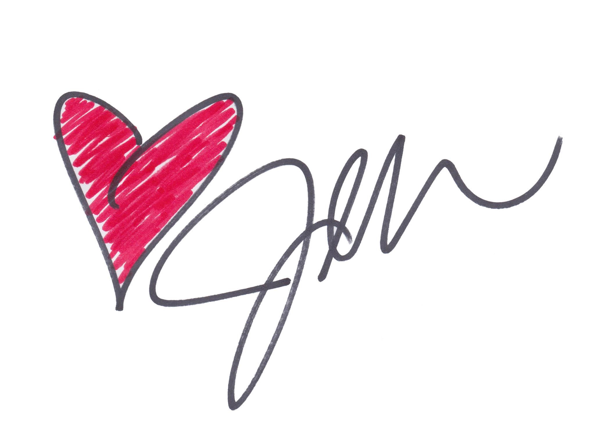 heart jen signature