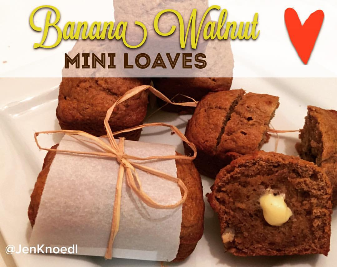 banana walnut mini loaves video blog jen knoedl