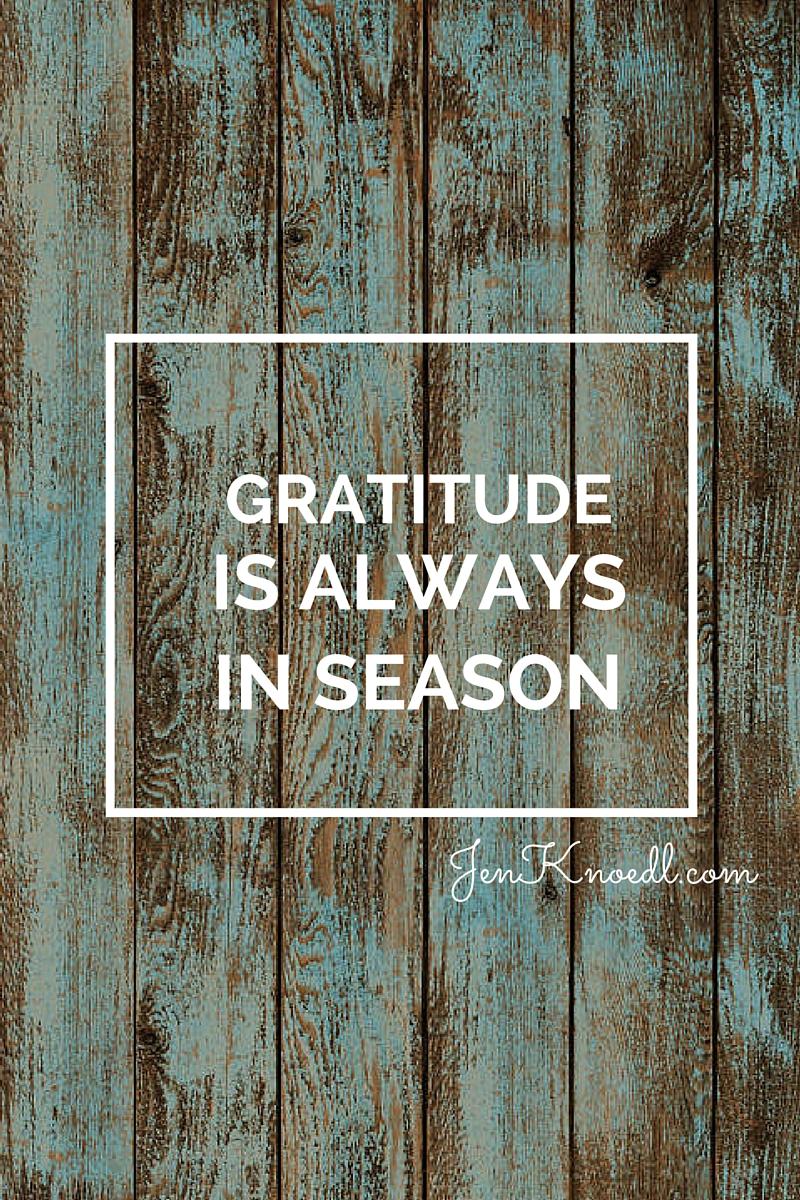 gratitude in season jen knoedl video blog