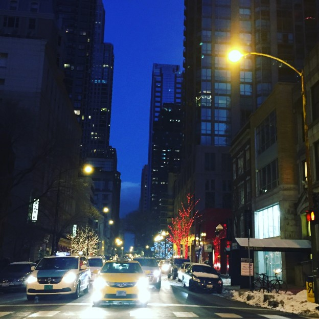 chicago night winter